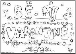 Valentines Day Coloring Book Pages Happy
