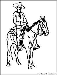 Cowboy Coloring Pages Horse Page