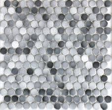 gray color 19mm matt ceramic mosaic bathroom shower floor