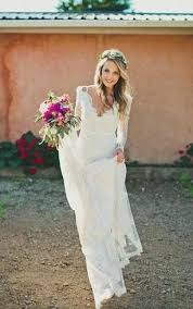 Lovely Country Rustic Wedding Dresses And Sheath Short V Neck Long Sleeve Bell Illusion Pleats