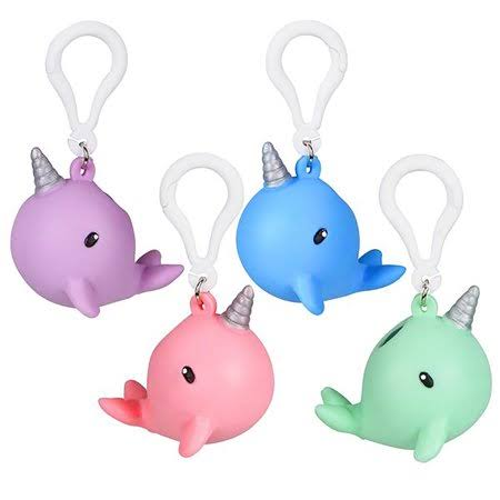"Adventure Planet 2.5"" Squeezy Poo Narwhal Backpack Clip"