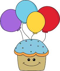 happy birthday cupcake clipart