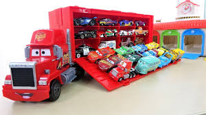 Disney Pixar Cars 3 Mack Truck Hauler Lightning McQueen Garage For ...