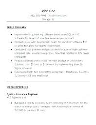 Software Quality Assurance Resume Specialist Management System 2 Control Sample For Technician
