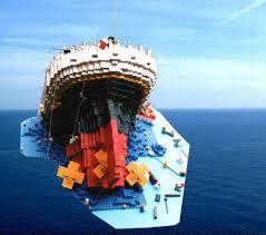 sinking titanic a lego creation by b k mocpages com