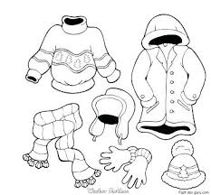 Coloring Pages Of Clothes Page Sweater Winter Free Printable