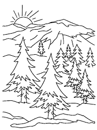 Printable Mountain Coloring Pages