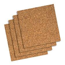 quartet cork wall tiles 12 x 12 x 14 pack of 4 by office
