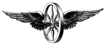 3D Bike Wheel With Wings Tattoo Design