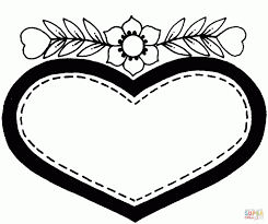 Heart Coloring Pages Printable Pictures Valentines Day Sacred Medium Size