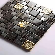 schwarz farbe glas gemischte metall mosaik fliesen für wand fliesen küche backsplash fliesen badezimmer dusche fliesen platz und streifen