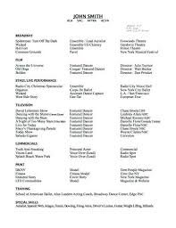 Dance Resume Examples For College Here Are Free Sample Dancer Resumes From Sites Around The Web