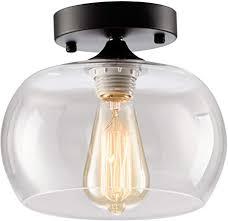moderne deckenleuchte glasschirm keramikhalter industrial