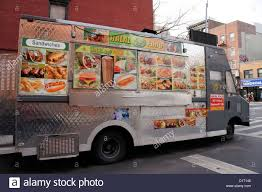 Halal Food Truck In The East Village Area Of New York City, NY Stock ...