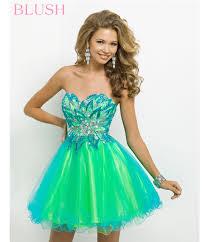 2014 prom dresses turquoise u0026 lime strapless short prom dress