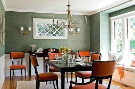 Orange And Green Bedroom Walls View In Gallery Contemporary Dining Room Design
