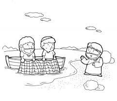 Jesus Calls His Disciples Coloring Page Sketch
