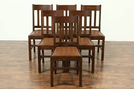 Set Of 6 Arts & Crafts Mission Oak Antique Craftsman Dining Chairs Leather  Seats Kitchen Design Oak Ding Room Table Chairs Art Piece Mission Craftsman Vermont Woods Studios Set Amish And 4 Side New Classic Fniture Designed Nhport With Chair Home Envy Furnishings Solid Wood Floor Lighting Frame Architecture Arts Bathroom Bepreads Custom Made Cherry Style Fixtures Prairie Chandeliers Closeout Special Price Modern Leg 6 Chairs