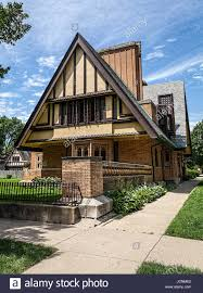 100 Prairie House Architecture Frank Lloyd Wright Chicago Stock Photo