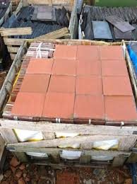 reclaimed 9 inch square terracotta quarry tiles for sale on