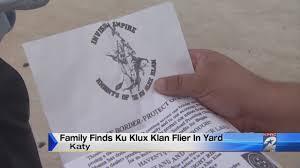 Free Pumpkin Patch In Katy Tx by Family Finds Ku Klux Klan Flier In Katy Yard