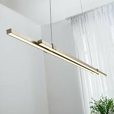 led hängeleuchte tymon schmal balken helles licht esszimmer