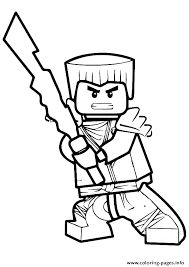 Ninja Lego Coloring Pages Free Page Printable Pictures Colouring Ninjago