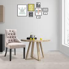 homcom esszimmerstuhl küchenstuhl polsterstuhl kautschukholzbeine sessel leinen grau 61 x 56 x 92 cm