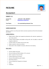 Best Resume Format For Accountant In Word Study