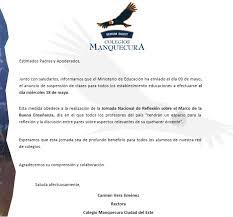 COMUNICADO MINEDUC SUSPENSIÓN DE CLASES 18 DE MAYO JORNADA DE