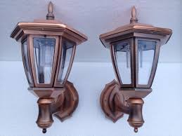 copper solar wall lights carriage lanterns 2 pack solar carriage