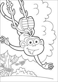 Happy Swinging Boots Dora The Explorer Coloring Pages