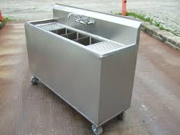 Mobile Self Contained Portable Electric Sink by Commissary Gallery
