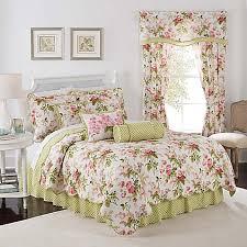 waverly emma s garden reversible quilt set in blossom bed bath