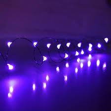 10 ft purple led multi function micro string lights battery