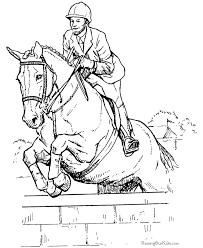 Jumping Horse Coloring Sheet Paisagens Em Desenho Desenhos Para