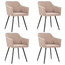 vidaxl esszimmerstühle 4 stk taupe stoff gitoparts