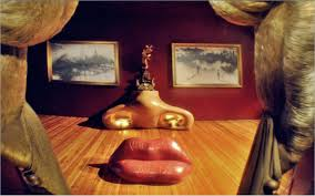 Salvador Dali Mae Wests Lips Sofa by Tripneter Road Trip Stop Teatro Museo Dalí Crazy Or Genious