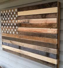 Vintage American Flag Wall Art This Rustic Was Built Using Reclaimed Pallet Wood I Carefully Hand Picked