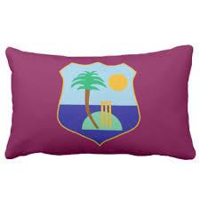 Flag Of The West Indies Cricket Lumbar Pillow