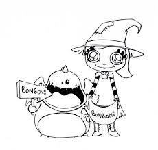 Halloween Candies Coloring Page