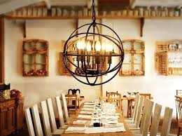 Dining Room Lighting Globe Wired Rustic For Chandeliers