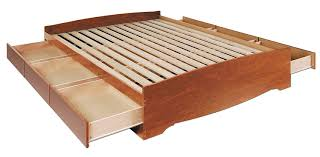 King Size Platform Storage Bed Plans by Amazon Com Cherry Queen Mate U0027s Platform Storage Bed With 6