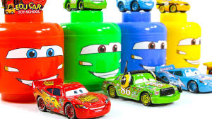 Learning Color Disney Cars Lightning McQueen Mack Truck Car Carrier ...