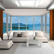 details zu vlies fototapete 3d ausblick insel terrasse natur fenster wohnzimmer 94