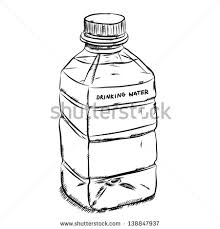 plastic bottle of drinking water cartoon vector and illustration hand drawn sketch style