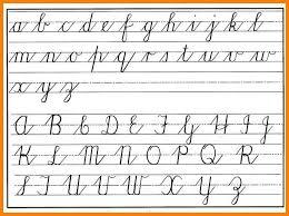 14 lowercase cursive letters