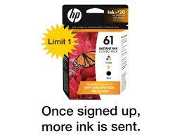HP 61 Black Tri Color INSTANT INK Enrollment Kit