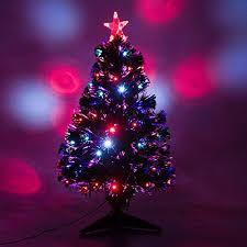3 Artificial Holiday Fiber Optic LED Light Up Christmas Tree W 8