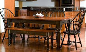 Farmhouse Table Chairs Dining Room With Bench Farm Plans
